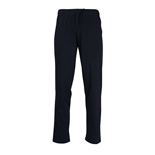 Ceceba Herren Lange-Hose, Schlafhose, Pyjama-Hose - Baumwolle, Single Jersey, Navy, Uni 64