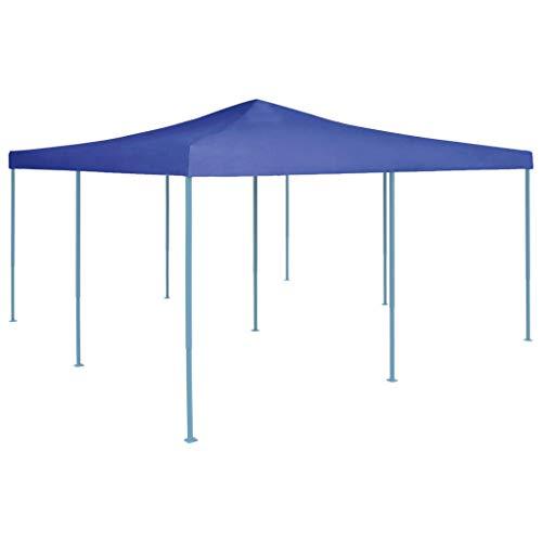 vidaXL Belvédère Pliable Chapiteau de Jardin Tente de Réception de Patio Tonnelle de Terrasse Pavillon de Jardin Extérieur 5x5 m Bleu
