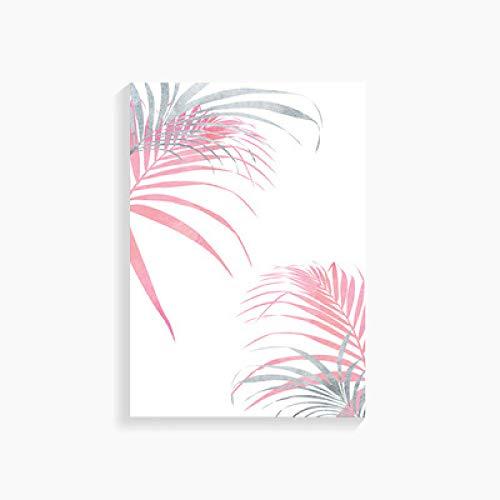 Rosa Wandplakat, Nordic Flamingo Bilder, Wandplakate, Küstenpflanze, Leinwand, Bilder, Blattdruck, Wohnkultur (kein Rahmen)
