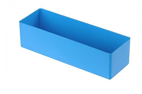 hünersdorff Einsatzbox aus hochschlagfestem Polystyrol (PS), Maße: 162 x 54 x 45 mm, Farbe: blau