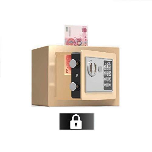 Piezas de maquinaria Caja de seguridad mediana Caja de seguridad para el hogar con código Llaves de anulación de emergencia Alarma incorporada Montado en la pared o en el piso para joyería Document