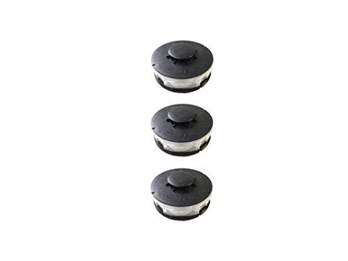 3 Stück Doppelfaden Rasentrimmer Spule Ersatzfadenspulen für Elektro Rasentrimmer passend für Hornbach ERT 550 V 550/1