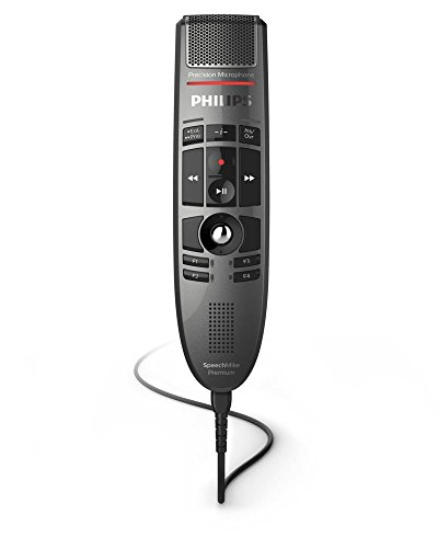 Philips LFH-3500 SpeechMike Premium USB Push Button Dictation Microphone Best-in-Class Recording with Precision Microphone