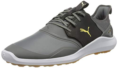 PUMA Herren Ignite Nxt Crafted Golfschuh, Quiet Shade Black Team Gold, 47 EU