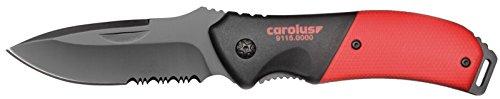 CAROLUS 9115.0000 Taschenmesser mit 2K-Griff und Gürtelclip