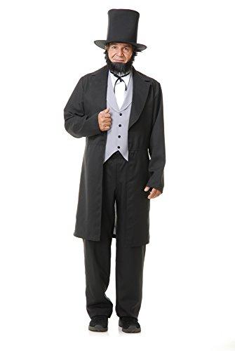 Charades Herren Abe Lincoln Kostüme für Erwachsene, Siehe Abbildung, Large