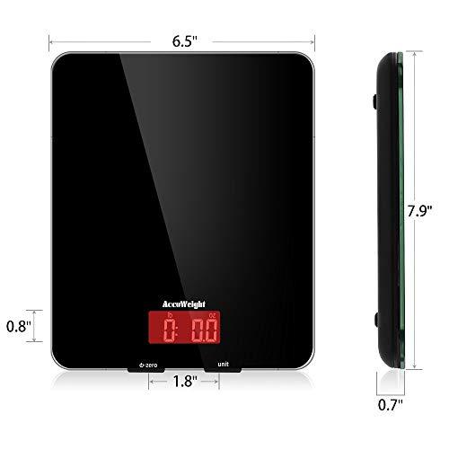 Balance Accuweight Peser jusqu'à 11 lb, en Noir - Modèle AW-KS001BB - 6