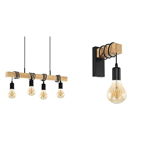 "lampadario a sospensione acciaio Eglo - lampada a sospensione ""Townshend"" 95499"