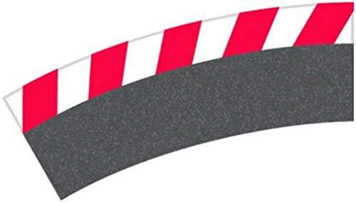 Carrera - rail et accessoire pour circuit - 20020567 - 1/24 et 1/32 - Carrera Evolution -Carrera Digital 132 et 124 - Bordures extérieures pour les courbes 3/30° (6), embouts (2)