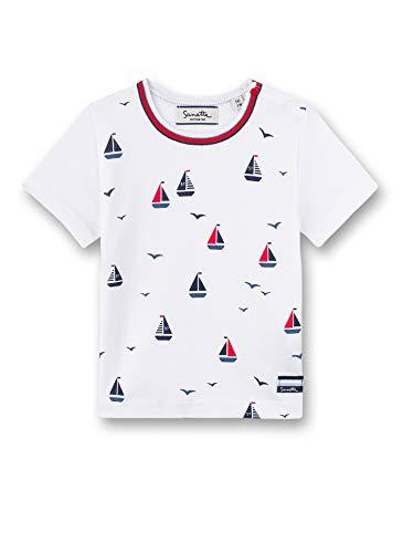 Sanetta Baby-Jungen Fiftyseven T-Shirt Langarmshirt, Weiß (White 10), 92 (Herstellergröße: 092)