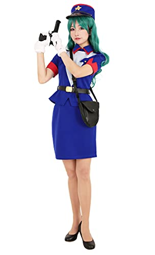 Cosplay.fm Women's Officer Jenny Cosplay Costume Uniform Outfit (S) Blue