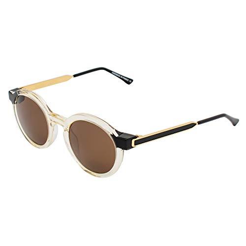 THIERRY LASRY SOBRIETY-995 Brille, vergoldet, Schwarz, transparent, 47/20/140 für...