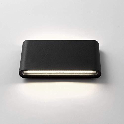 XIAJIA-XIAJIA-12W LED Aplique Pared Exterior,Apliques de Pared, Lamparas de Pared impermeable IP65,Decoración de Casa Jardín de Lluminación de Exterior y Lluminación de Interior (Negro/Blanco