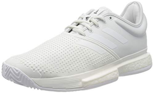 adidas Sole Court Boost X Parley Allcourtschuh Damen-Weiß, Hellgrau, Zapatillas de Tenis para Mujer, Blanco, 42.5 EU