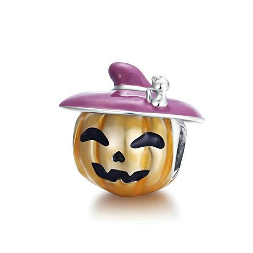 HMMJ Los encantos cuelgan la Perla, S925 STRILLY SLINLY Smiley Pumpkin DE DIY Pendiente Hecho Handmade para Pandora Troll Chamilia Charm Pulsera Collares