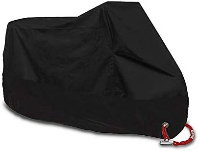 AlleTechPlus Waterproof Motorcycle Cover Fits up to 97 Motors 2 Lock holes Design All Weather product image