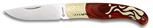 Martinez Albainox Klappmesser verziert mit Laser rotem Ausdauergriff und Alpaka, 6,5 cm Klinge aus Edelstahl, in Kastenfarbe 19154