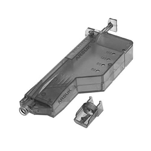 ARSUK Airsoft Plastic 155 Count Round Speed Loader für 6 mm BB-Pellets (155 Rounds-Black)