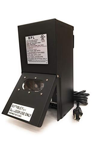 Best Pro Lighting 300W Low Voltage Landscape Transformer Multi Tap 120 Volt AC to 12-15 Volt LED & Halogen - Lighting Outdoor/Indoor Weatherproof Power Pack Digital Timer Photocell - Black Metal