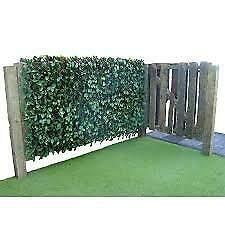 Bisen Efeu-Heckenzaun auf Weide, realistisch, dick, UV-Schutz, für Innen- und Außenbereich, erweiterbar, 1 x 2 m