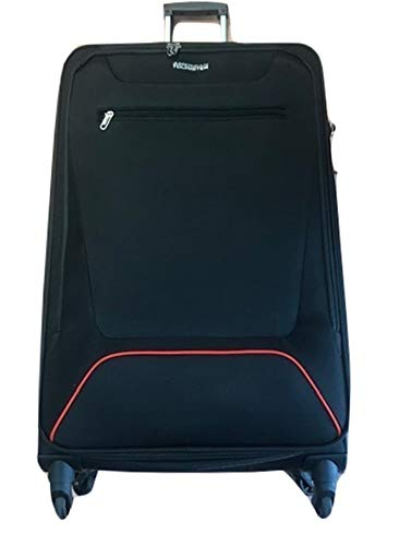 American Tourister Hyperbreez Trolley 4 Wheels Large Color Black Expandable