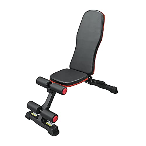 Fit4home Weight Bench   Gym Exercise Fitness Workout Training Weight Lifting   TF-307F Black Red