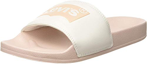 LEVIS FOOTWEAR AND ACCESSORIES June Batwing S, Chanclas para Mujer, Rosa (Light...