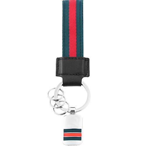 CJH sleutelhanger voor heren en dames, creatieve riem, voor auto, 2 sleutelhangers, sleutelhangers Groen