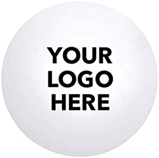 HiTouch Business Services #4088 Ball Stress Reliever - 50 Qty - $1.30 EA - Promotional Product/Custom/Your Logo/Low Minimums, White