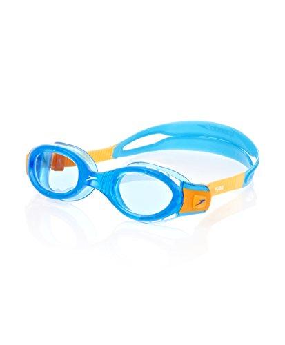 Speedo Kinder Junior Futura Biofuse Goggles, Blue/Yellow, One Size