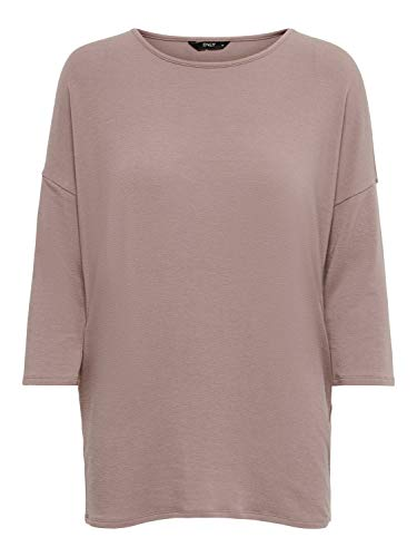 ONLY Damen ONLGLAMOUR 3/4 TOP JRS NOOS Pullover, Adobe Rose, S