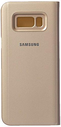 Samsung EF-ZG955CFEGWW Clear View Standing Schutzhülle für Galaxy S8 Plus Gold