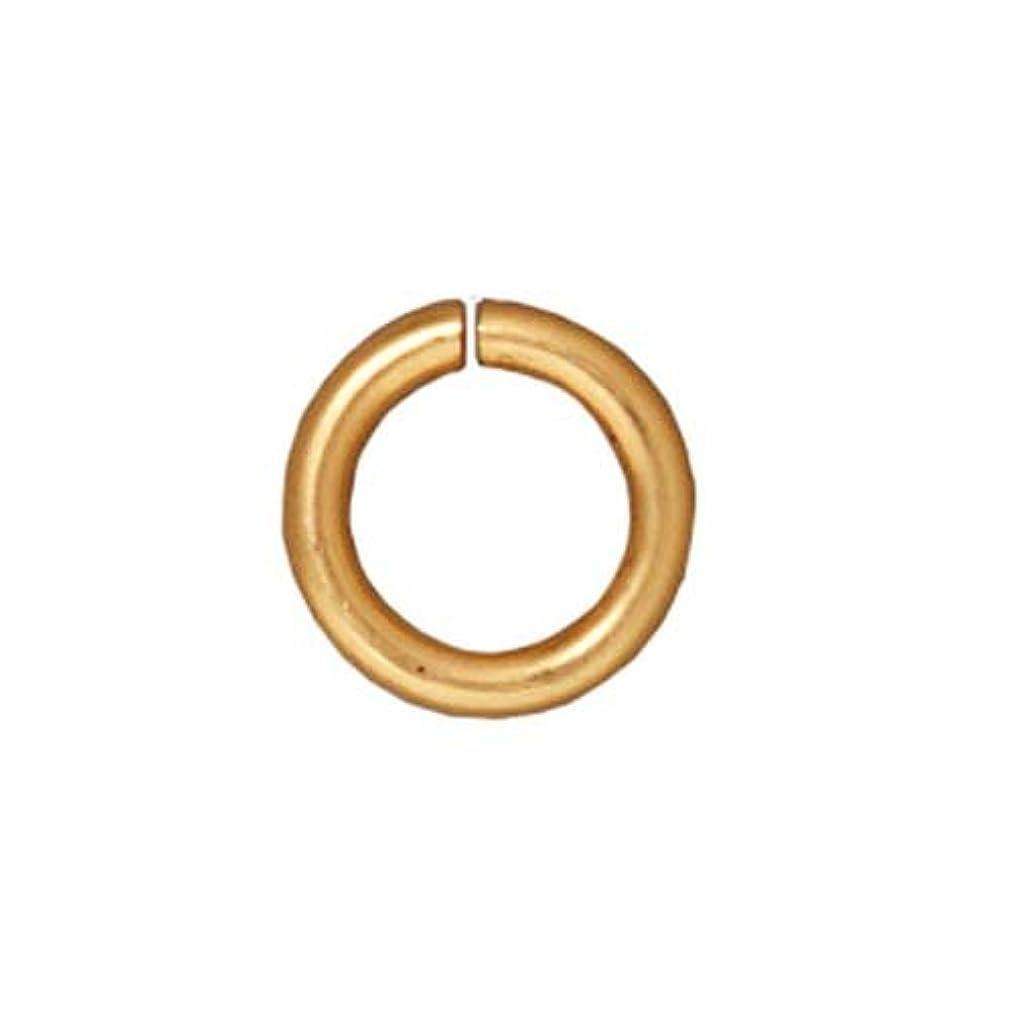 TierraCast 16 Gauge Jump Ring, 5mm, 22K Gold Plate, 50-Piece