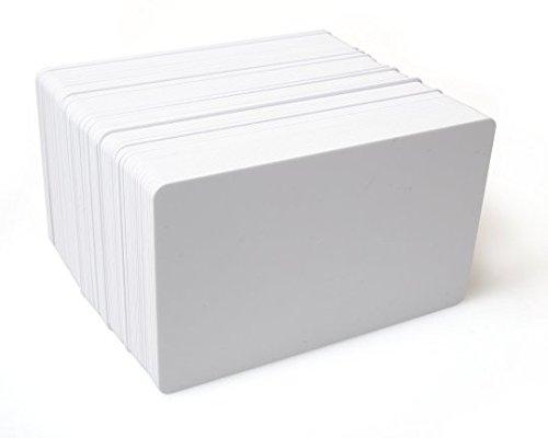 PAC Supplies Global Ltd - Tarjetas de identificación de plástico PVC blanco para impresoras Magicard, Evolis, Zebra, Smart, Javelin, Fargo, Datacard