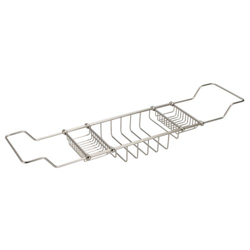 Water Creation BC-0001-05 Expandable Bath Caddy for The Elegant Tub, Polished Nickel PVD