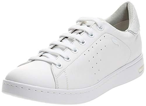 Geox Femme D Jaysen Sneaker, Blanc White, 39 EU