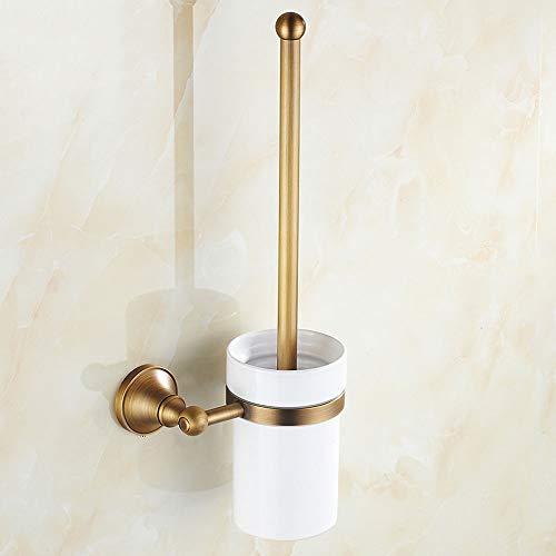 LifeX Antique européen suspendu brosse de toilette et support ensemble cuivre montage mural brosse de toilette ensemble de toilette brosse de nettoyage stand de salle de bains épaisse en céramique por