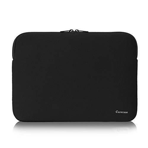 Carecase 10-12 Zoll Laptop Schutzhülle Wasserfestes Neopren Notebook Computer Tasche Tablet Aktentasche Tragetasche Hülle für MacBook/Acer/Asus/Dell/Lenovo, Schwarz