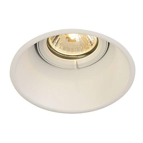SLV LED Einbau-Strahler HORN-T, rund, schwenkbar , Dimmbare Deckenleuchten, Beleuchtung innen , LED Spots, Fluter, Deckenstrahler, Decken-Lampen, Einbau-Leuchten , einflammig, GU10 QPAR51, EEK E-A++