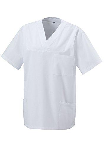 Schlupfkasack Kasack Schlupfjacke Schlupfhemd für Medizin und Pflege OP-Kleidung Weiss Gr. M