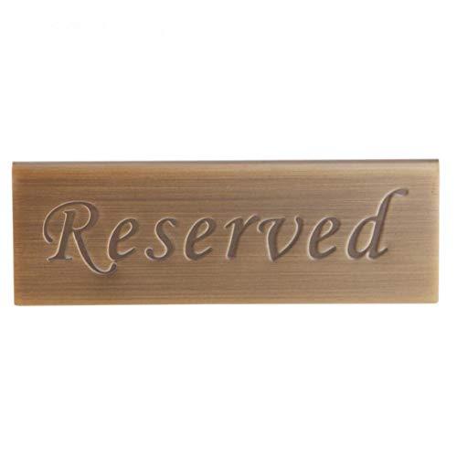 BYFRI RVS plank gereserveerd voor gereserveerd tafelbord, hotelbar, club, feest, bruiloft, tafeldecoratie