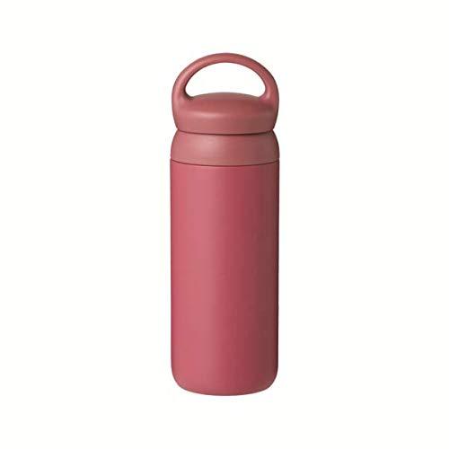 Kinto Reisebecher 500 ml, Wasserflasche, vakuumisolierte Thermosflasche, Sportflasche rose