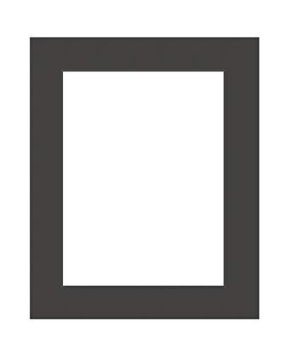 Deha Passepartout 50x70 cm für Bilder im Format 40x60 cm, Schwarz