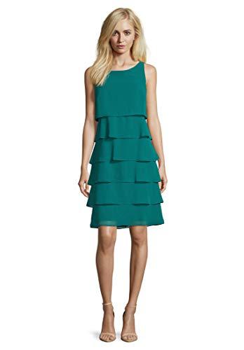Vera Mont Damen 0063/4825 Kleid, Grün (Green Ivy 5488), (Herstellergröße: 38)