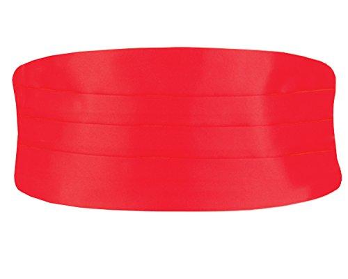Dobell Herren Roter Kummerbund - Groß