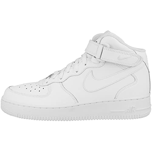 Nike Air Force 1 Mid (Gs), Unisex Adult's Air Force 1 Trainers, White (White/White 113), 5 UK (38 EU)