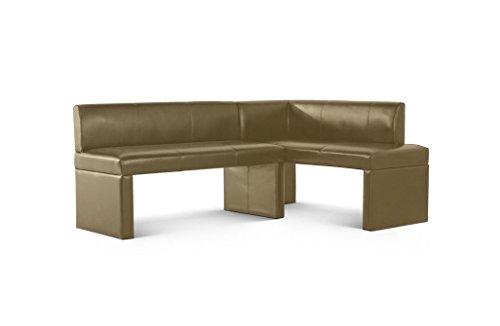 SAM Eckbank Talea II in Muddy, 180 x 130 cm, Sitzbank mit Rückenlehne aus Samolux®-Bezug