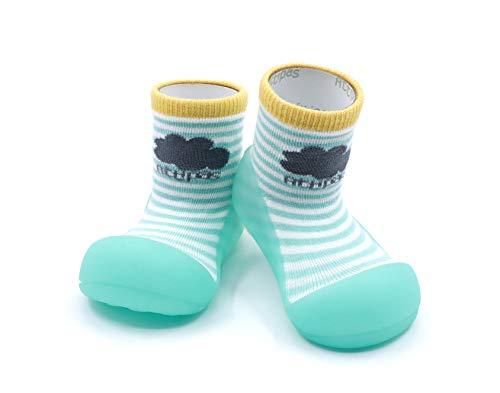Attipas-Zapatos Primeros Pasos-Modelo Peekaboo-Menta-T 19