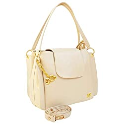 I Define You Latest Trend Cream Color Party Wear Handbag & Sling bag For Girls and Womens