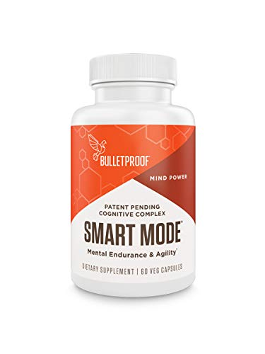 Bulletproof Smart Mode Supplement for Brain Health, Memory, Attention, & Performance, Nootropic Supplement Blend of 10 Scientifically-Studied Ingredients, 60 Capsules